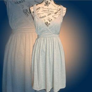 Trixxi Gray V-neck/back Spaghetti Strap Dress